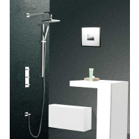 "CBI Athena Shower Systems with 2-Way Concealed Triple Valve, Slide Rail Kit and 8.7"" Shower Head  CL-JDL8609305"