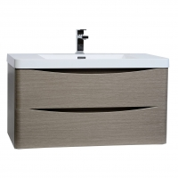 "Merida 35.5"" Wall-Mount Bathroom Vanity in Light Pine TN-SM900-LP"