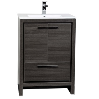 CBI Enna 23.5-inch Grey Oak Modern Bathroom Vanity TN-LA600-GO
