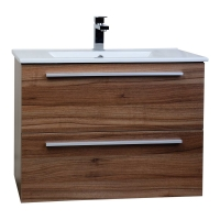 "Nola 29.5"" Wall-Mount Modern Bathroom Vanity Walnut TN-T750C-WN"