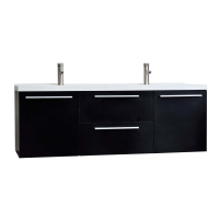 "59"" Wall Mounted Modern Double Vanity in Espresso TN-NT1500D-WG"