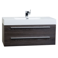 "39.5"" Wall-Mount Contemporary Bathroom Vanity in  Toffee Wenge TN-T1000-TWG"