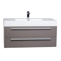 "39.25"" Wall-Mount Contemporary Bathroom Vanity High Gloss Iron Grey TN-T1000-HGBG"