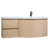 "Laurance 48"" Bathroom Vanity by CBI White Oak Finish TN-RA1200-R-WO"