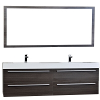 "Andria 71"" Contemporary Double Wall Mounted in Grey Oak TN-M1810-GO"