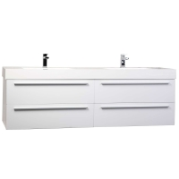 "Andria 71"" Contemporary Double Wall Mounted Glossy White TN-M1810-HGW"