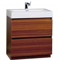 "29.5"" Contemporary Bathroom Vanity Set in Teak Optional Mirror TN-LY750-TK"