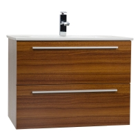 "Nola 29.5"" Wall-Mount Modern Bathroom Vanity Teak TN-T750C-TK"
