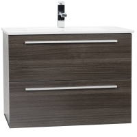 "Nola 29.5"" Wall-Mount Modern Bathroom Vanity Grey Oak TN-T750C-GO"