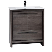 CBI Enna 29.5 Inch Grey Oak Modern Bathroom Vanity TN-LA750-GO