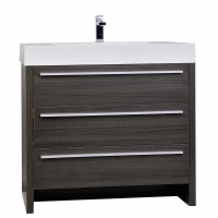 "Vinnce 35.5"" Modern Bathroom Vanity in Grey Oak TN-LX900-GO"