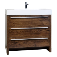 "Vinnce 35.5"" Modern Bathroom Vanity in Walnut TN-LX900-WNVinnce 35.5"" Modern Bathroom Vanity in Rosewood TN-LX900-RW"
