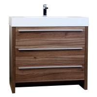 "Vinnce 35.5"" Modern Bathroom Vanity in Walnut TN-LX900-WN"