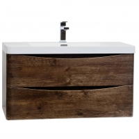 "Merida 35.5"" Wall-Mount Bathroom Vanity in Rosewood TN-SM900-RW"