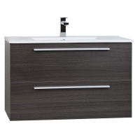 "Nola 35.5"" Wall-Mount Modern Bathroom Vanity Grey Oak TN-T900C-GO"