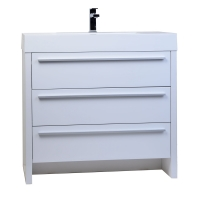 "Vinnce 35.5"" Modern Bathroom Vanity in Gloss White TN-LX900-HGW"