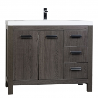 "39.5"" Modern Bathroom Vanity in Oak Optional Mirror RS-L1000-OAK"
