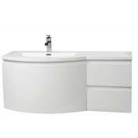 "Laurance 48"" Bathroom Vanity by CBI High Gloss White Left Sink TN-RA1200L-HGW"