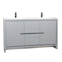 CBI Enna 59 Inch Modern Bathroom Vanity in Metalic Grey TN-LA1510-MG