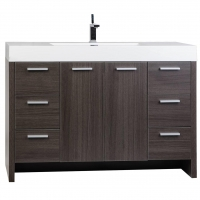 "47.25"" Modern Bathroom Vanity Grey Oak Finish TN-LY1200-GO"