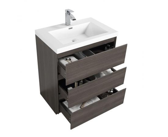 Buy Edison 29.5 Inch Single Bathroom Vanity Set in Grey Oak TN-ED750-GO   - Conceptbaths.com