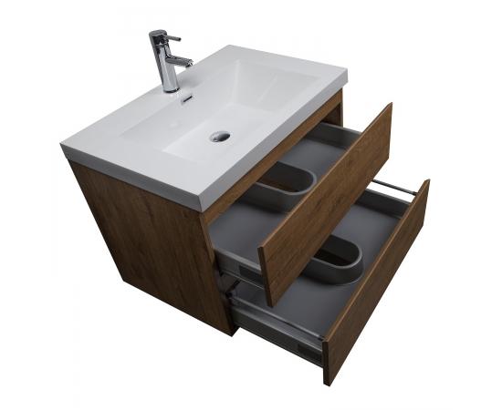 Buy Angela 30 INch Wall-Mount Bathroom Vanity Danish Teak TN-AG750-DT- Conceptbaths.com Free Shipping