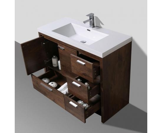 Buy CBI  42 Inch Rosewood Modern Bathroom Vanity TN-ly1065-1-RW  on ConcepBaths.com