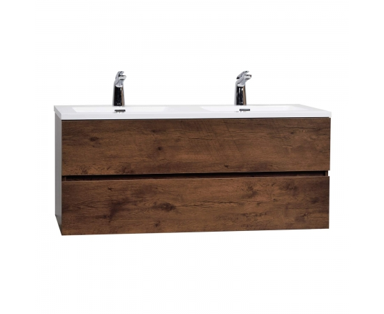 "Angela 47"" Wall-Mount Double Bathroom Vanity  Rosewood TN-AG1200D-RW"