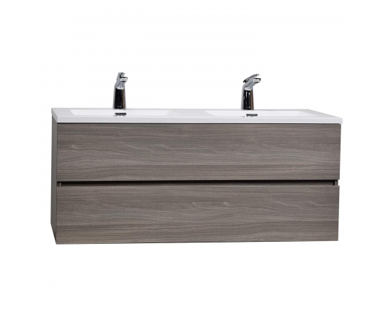 "Angela 47"" Wall-Mount Double Bathroom Vanity  Maple Grey TN-AG1200D-MPG"