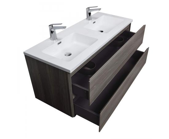 "Buy Angela 47"" Wall-Mount Double Bathroom Vanity  Rosewood TN-AG1200D-RW Conceptbaths.com, FREE SHIPPING"