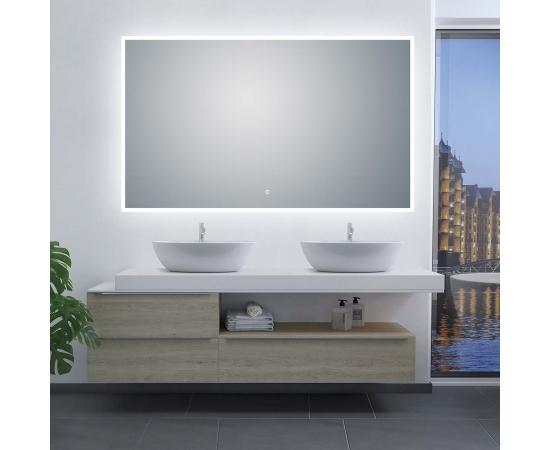 "LED Illuminated Bathroom / Vanity Wall Mirror 41.9"" x 35.5"" LAM-049F"