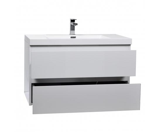 Buy Angela 35.4 Inch Wall-Mount Bathroom Vanity in High Gloss White TN-AG900-1-HGW  - Conceptbaths.com Free Shipping