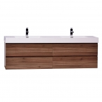 "Angela 71"" Contemporary Double Wall Mounted Walnut TN-AG1810-WN"