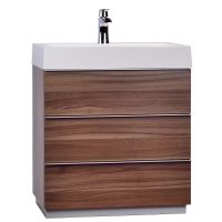 "29.25"" Single Bathroom Vanity Set in Walnut RS-L750-WN"