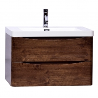 "Merida 30"" Wall-Mount Bathroom Vanity in Rosewood TN-SM760-RW"