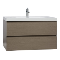 "Angela 35.5"" Wall-Mount Bathroom Vanity in Light Pine TN-AG900-LP"