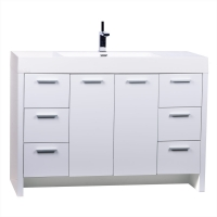 "47.25"" Modern Bathroom Vanity High Gloss White TN-LY1200-HGW"