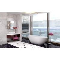 "67"" x 27.6"" Solid Surface Freestanding Soaking Bathtub"