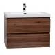 "Angela 29.5"" Wall-Mount Bathroom Vanity Walnut TN-AG750-WN"
