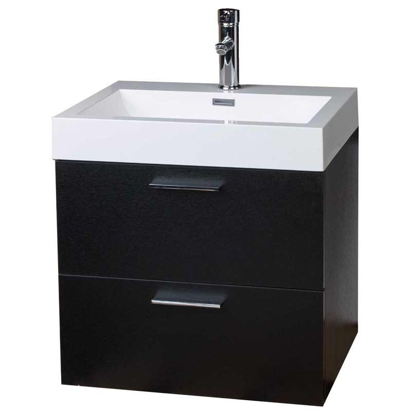 """22.75"""" Single Bathroom Vanity Set in Black TN-T580-BK"""