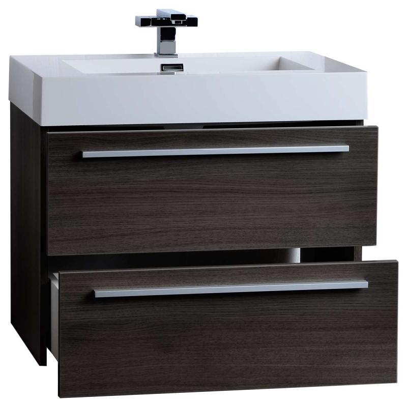 "Buy 26.75"" Single Bathroom Vanity Set in Grey Oak TN-T690-GO"