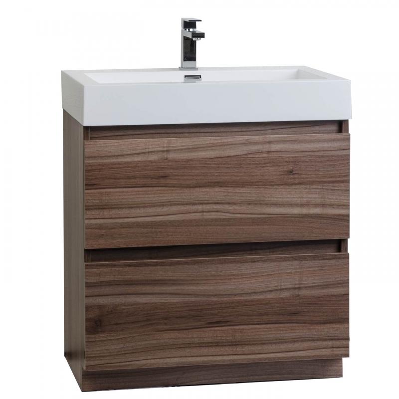 """2 29.5"""" Contemporary Bathroom Vanity Set in Teak TN-LY750-TK"""