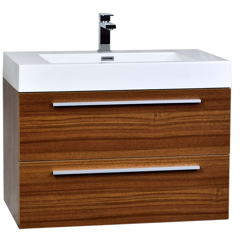 """31.5"""" Wall-Mount Contemporary Bathroom Vanity Set"""