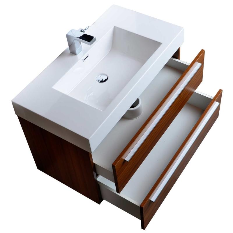 Modern Bathroom Vanity 36 Wall Mount Teak TN-M900-TK