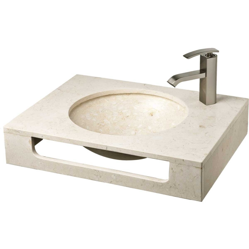 """23.5"""" Galala Natural Stone Wall Mount Vanity Combo Sink LM-T086GL"""