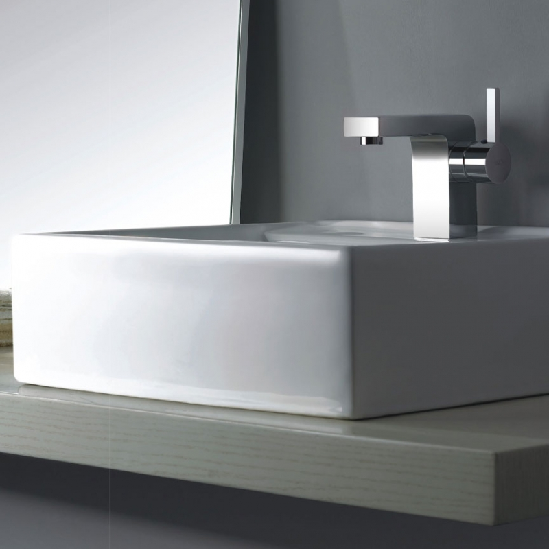 CBI Brette Single Hole Bathroom Faucet in Brushed Nickel M11048-083B