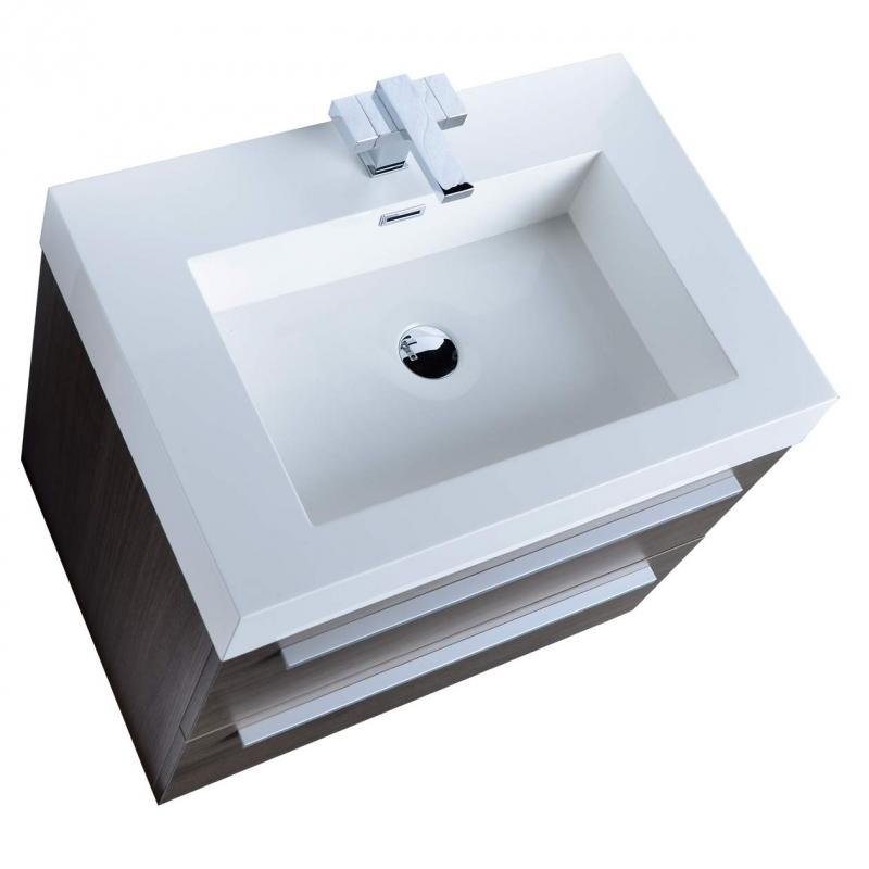 Single Bathroom Vanity Grey Oak 27 Inch tn-t690-go Fresca