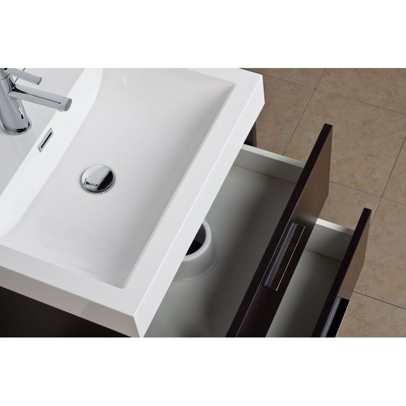 "Single Bathroom Vanity Set Espresso 22.75"" TN-T580-WG"