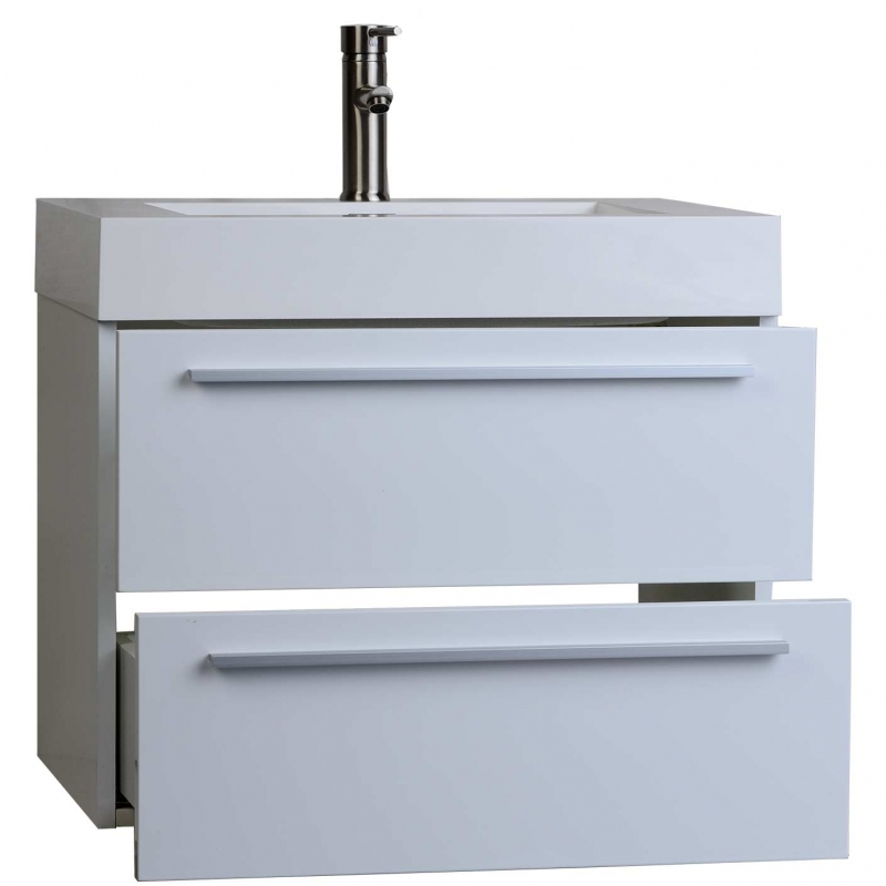 "26.75"" Single Bathroom Vanity Set in High Gloss White TN-T690-HGW"