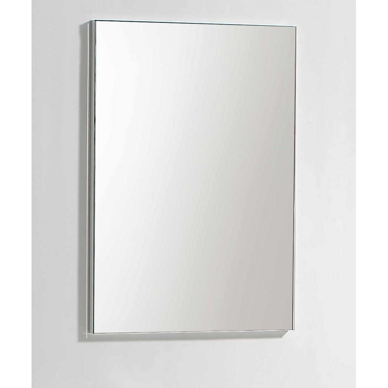 steel framed mirror